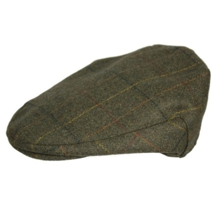 Oxford Blue Hunter Wool Tweed Flat Cap