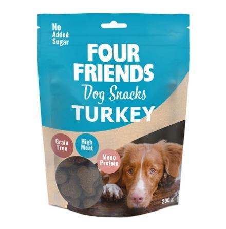 Four Friends Dog Snacks Turkey 200g